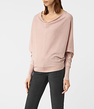 Mujer Elgar Cowl Neck Sweater (Pink) - product_image_alt_text_3