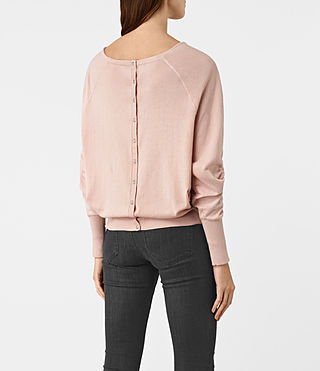 Women's Elgar Cowl Neck Jumper (Pink) - product_image_alt_text_4