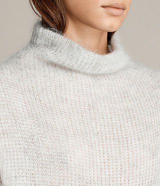 Womens Deuce Cowl Neck Sweater (LGHT GRY/CHALK WHT) - Image 2