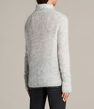 Womens Deuce Cowl Neck Sweater (LGHT GRY/CHALK WHT) - Image 4