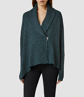 Womens Able Cardigan (Forest Marl)