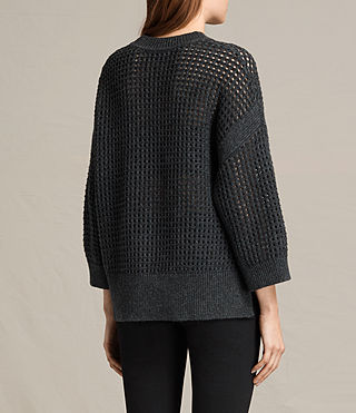 Women's Eden Crew Neck Jumper (Charcoal Grey) - product_image_alt_text_5