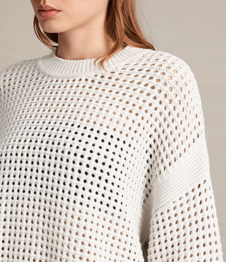 Mujer Eden Crew Neck Jumper (PORCELAIN WHITE) - product_image_alt_text_2