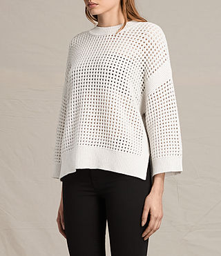 Mujer Eden Crew Neck Jumper (PORCELAIN WHITE) - product_image_alt_text_3