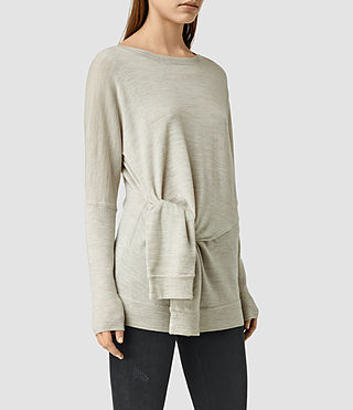 Womens Knot Sweater (MIST GREY)