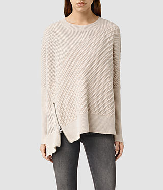 Womens Fragment Sweater (PORCELN WHITE/NUDE)