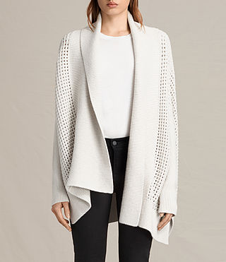 Damen Eden Cardigan (PORCELAIN WHITE)