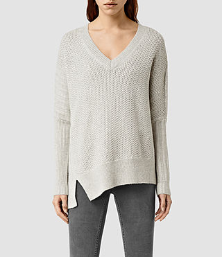 Womens Riley Sweater (Mist Grey Marl)