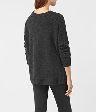 Mujer Kasha Cashmere Sweater (Charcoal) - product_image_alt_text_4