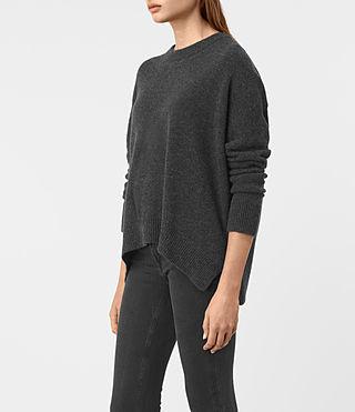 Mujer Kasha Cashmere Jumper (Charcoal Grey) - product_image_alt_text_3