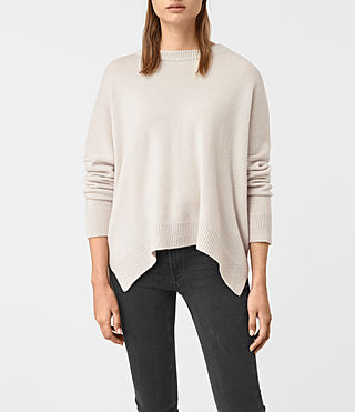 Womens Kasha Cashmere Sweater (PORCELAIN WHITE)