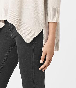Womens Kasha Cashmere Sweater (PORCELAIN WHITE) - product_image_alt_text_2
