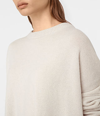 Mujer Kasha Cashmere Sweater (PORCELAIN WHITE) - product_image_alt_text_3