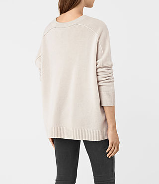 Mujer Kasha Cashmere Sweater (PORCELAIN WHITE) - product_image_alt_text_5