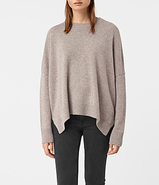 Womens Kasha Cashmere Sweater (Toast Brown)