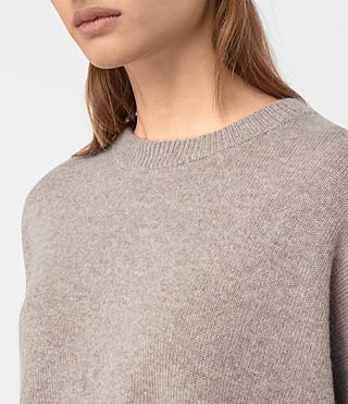 Women's Kasha Cashmere Jumper (Toast Brown) - product_image_alt_text_2