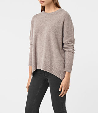 Mujer Kasha Cashmere Jumper (Toast Brown) - product_image_alt_text_3