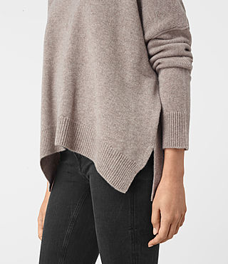 Women's Kasha Cashmere Jumper (Toast Brown) - product_image_alt_text_4