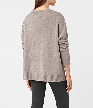Women's Kasha Cashmere Jumper (Toast Brown) - product_image_alt_text_5