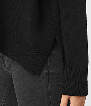 Mujer Kasha Cashmere Sweater (Black) - product_image_alt_text_2