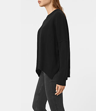 Mujer Kasha Cashmere Sweater (Black) - product_image_alt_text_3
