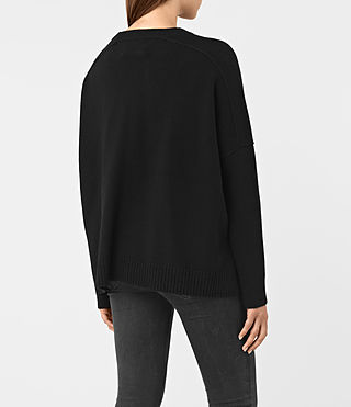 Mujer Kasha Cashmere Sweater (Black) - product_image_alt_text_4