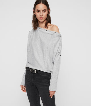 Womens Elle Sweater (Grey Marl) - product_image_alt_text_1