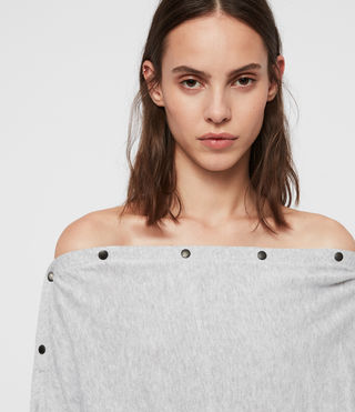 Womens Elle Sweater (Grey Marl) - Image 2
