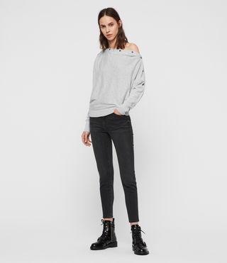 Womens Elle Sweater (Grey Marl) - Image 3