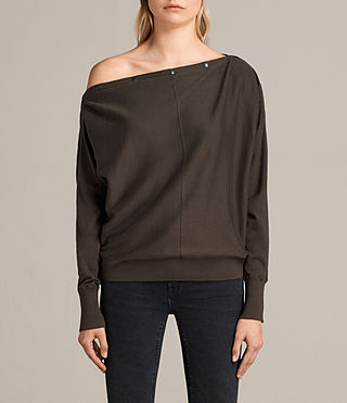 Damen Elle Jumper (Khaki Green) -