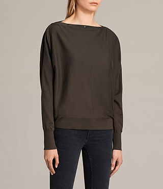 Damen Elle Jumper (Khaki Green) - product_image_alt_text_3