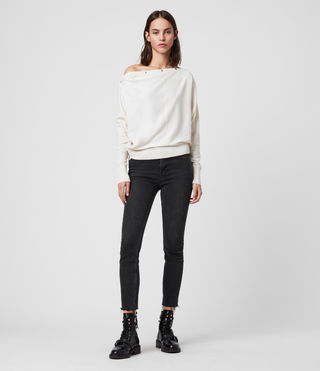 Womens Elle Sweater (PORCELAIN WHITE) - Image 3
