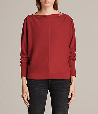 Womens Elle Jumper (Red) - Image 1