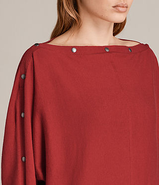Womens Elle Jumper (Red) - Image 2