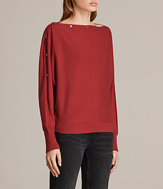 Womens Elle Jumper (Red) - Image 3