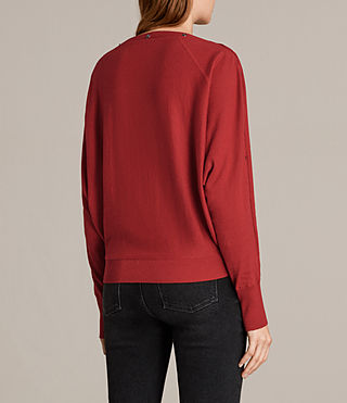 Womens Elle Jumper (Red) - Image 4