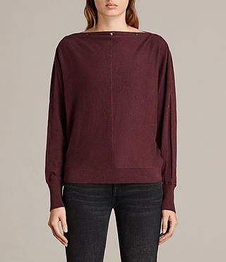 Womens Elle Jumper (BURGUNDY RED) - Image 1