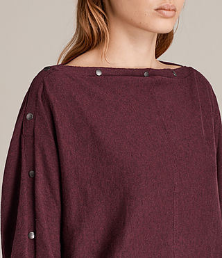 Womens Elle Jumper (BURGUNDY RED) - Image 2