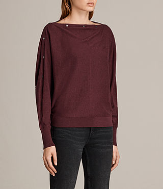 Womens Elle Jumper (BURGUNDY RED) - Image 3