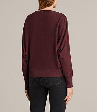 Womens Elle Jumper (BURGUNDY RED) - Image 4