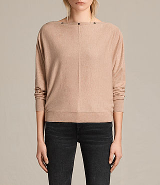 Womens Elle Sweater (ROSE PINK) - product_image_alt_text_1