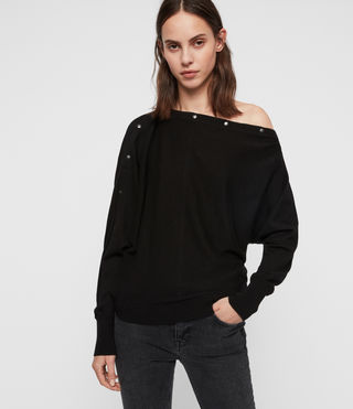 Womens Elle Sweater (Black) - product_image_alt_text_1