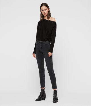 Women's Elle Jumper (Black) - Image 2