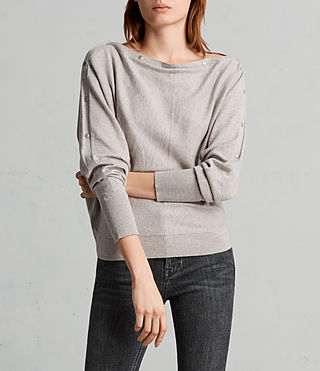 Womens Elle Sweater (Grey Marl) - Image 1