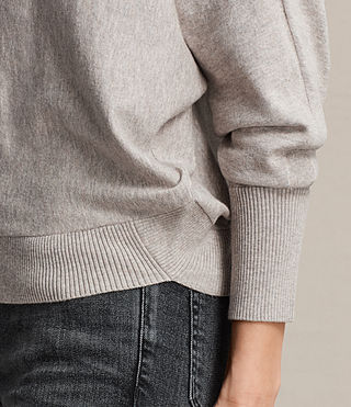Womens Elle Sweater (Grey Marl) - Image 4