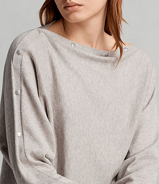 Womens Elle Sweater (Grey Marl) - Image 5