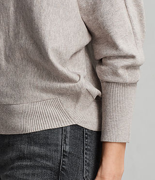 Womens Elle Sweater (Grey Marl) - Image 6