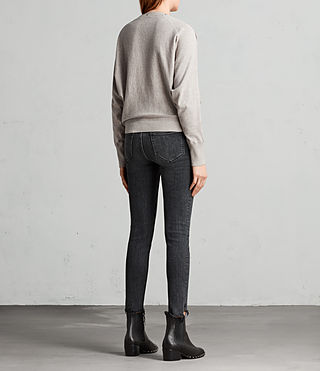 Womens Elle Sweater (Grey Marl) - Image 7