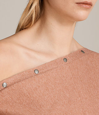 Womens Elle Sweater (CORAL PINK) - product_image_alt_text_2