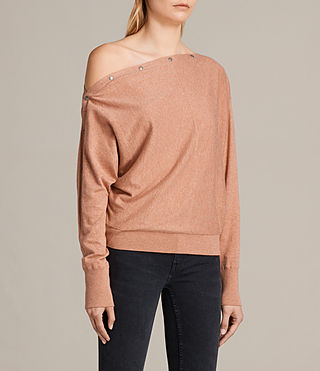 Womens Elle Sweater (CORAL PINK) - product_image_alt_text_3